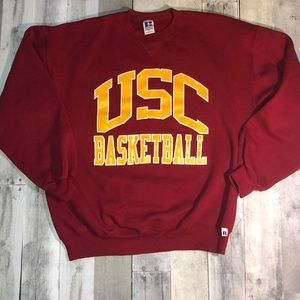 Vintage USC Basketball Pullover RUSSELL ATHLETIC